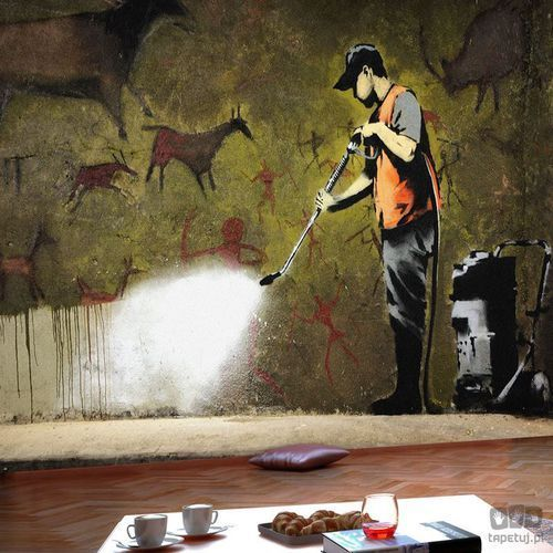 Fototapeta Banksy - Cave Painting h-A-0041-a-a
