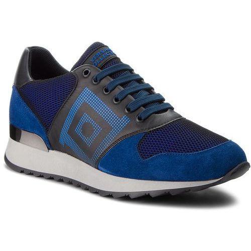 Versace Sneakersy collection - v900728 vm00427 va28c blue navy/nero/blu/nero