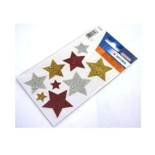 Naklejki  magic 6528 gwiazdy brokatowe x1 marki Herma