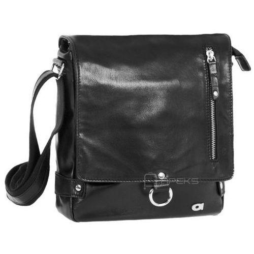 human 37 torba skórzana na ramię / czarna marki Daag