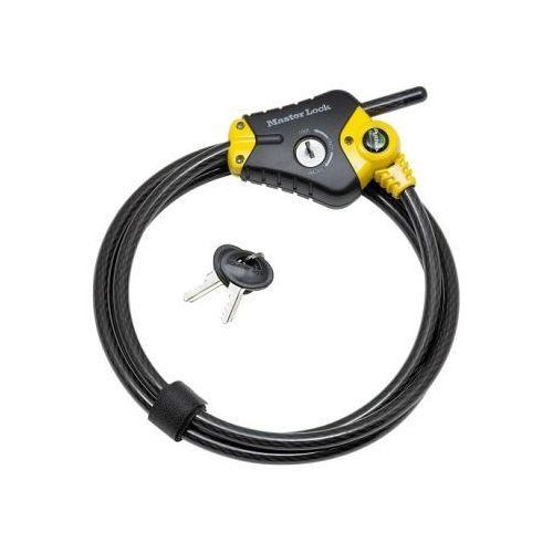 Masterlock Python - kabel zabezpieczający, regulowany - 1,8m x 10mm 8433eurd