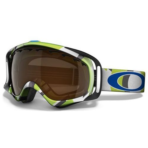 Gogle snowboardowe  - crowbar factory slant to green (black iridium) (slant to green) rozmiar: marki Oakley