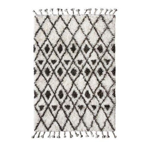 ręcznie tkany dywan berberski wykonany z wełny z brązowo-białymi wzorkami (120x180) ttk3020 marki Hk living