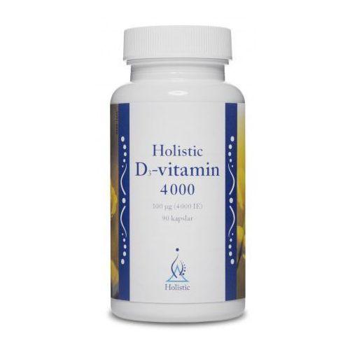 Witamina D3 100 µg (4000 IU) Holistic NATURALNA WITAMINA D3 CHOLEKALCYFEROL z lanoliny 90 kaps.