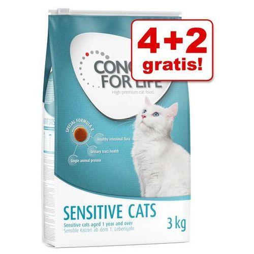 Concept for life 4 + 2 kg gratis! karma dla kota, 2 x 3 kg - sensitive cats| niespodzianka - urodzinowy superbox!| -5% rabat dla nowych klientów| darmowa dostawa od 89 zł i super promocje od zooplus! (4260358512365)
