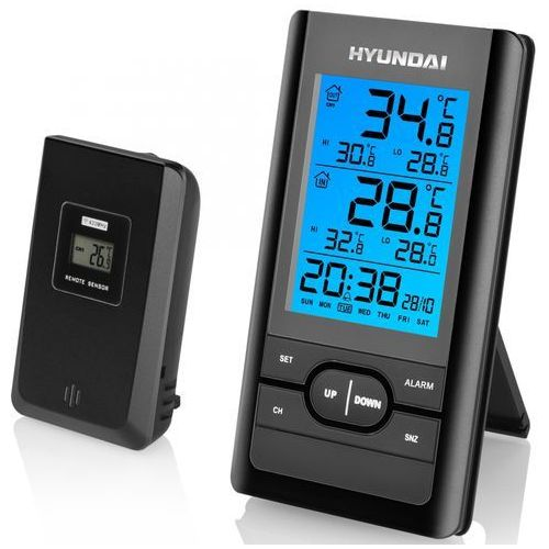Hyundai stacja pogodowa ws1070, czarna (8592417056531)