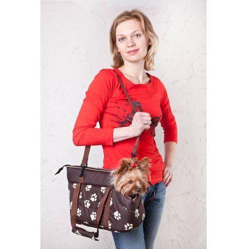 Hobbydog Torba - brązowa w łapki - rozmiar 3
