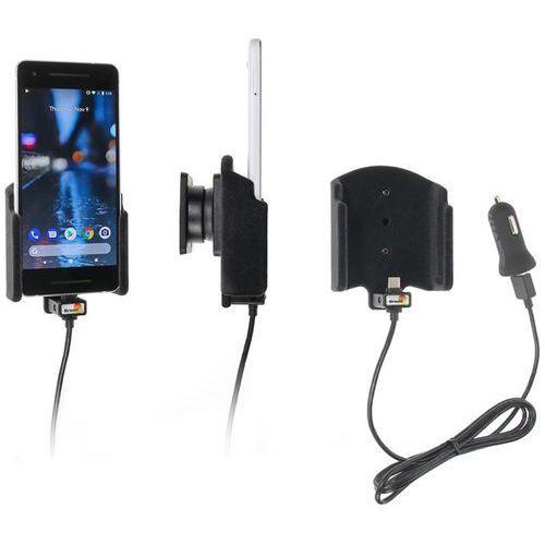 Uchwyt do Google Pixel 2 z wbudowanym kablem USB oraz ładowarką samochodową.