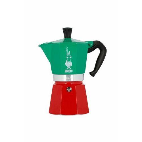 Kawiarka moka express italia 6 tz zielono-czerwony marki Bialetti