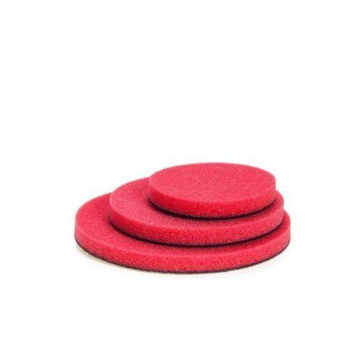 NAT Czerwona średnio miękka gąbka polerska 80mm