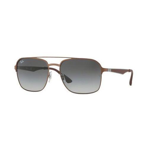 Ray-ban Rayban okulary przeciwsłoneczne light brown/light grey gradient dark grey (8053672771084)