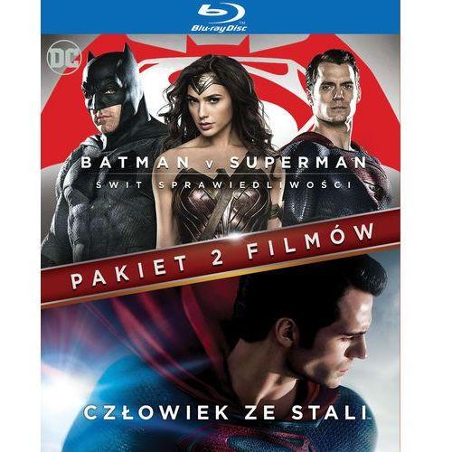 Zack snyder Pakiet 2 filmów: batman v superman: świt sprawiedliwości/ człowiek ze stali (blu-ray) -