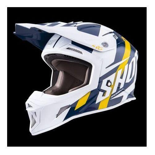racing niebieski/biały/żółty kask crossowy marki Shot