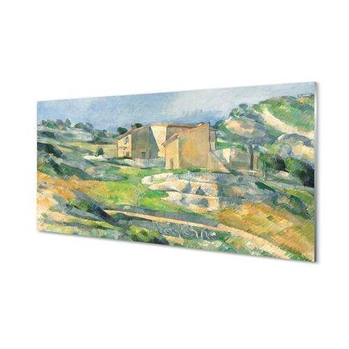 Obrazy akrylowe Sztuka malowany dom na wzgórzu