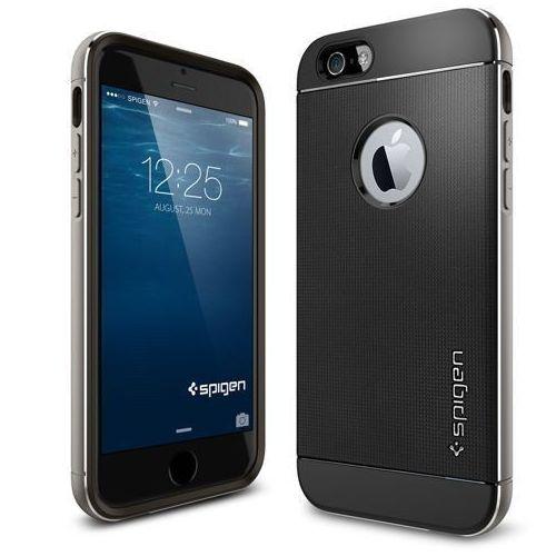 Etui SPIGEN do iPhone 6 Case Neo Hybrid Metal Series Space Szary, kolor szary