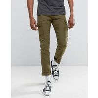 New look cargo trousers in khaki - green