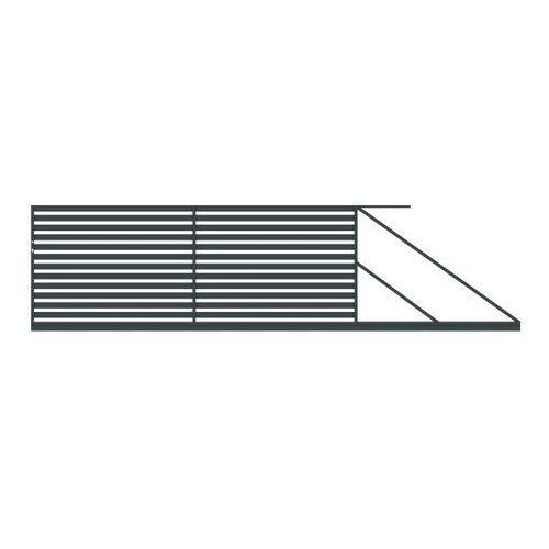 Polbram steel group Brama przesuwna lara 400 x 154 cm prawa