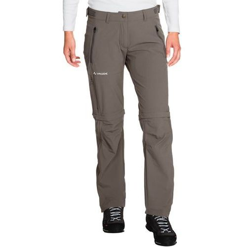 farley spodnie długie kobiety szary 40 2018 spodnie z odpinanymi nogawkami, Vaude
