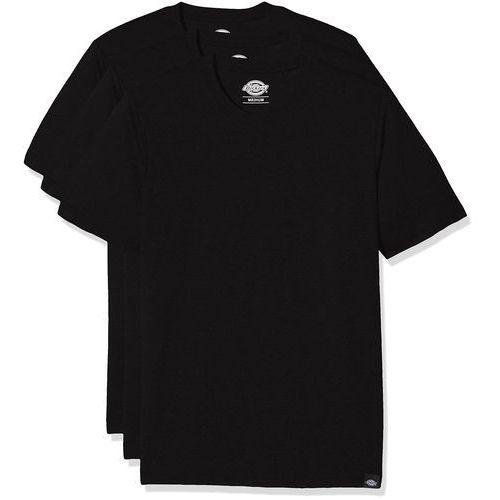 okrągłe wycięcie pod szyją t-shirt męski, zestaw sztuk - l czarny marki Dickies