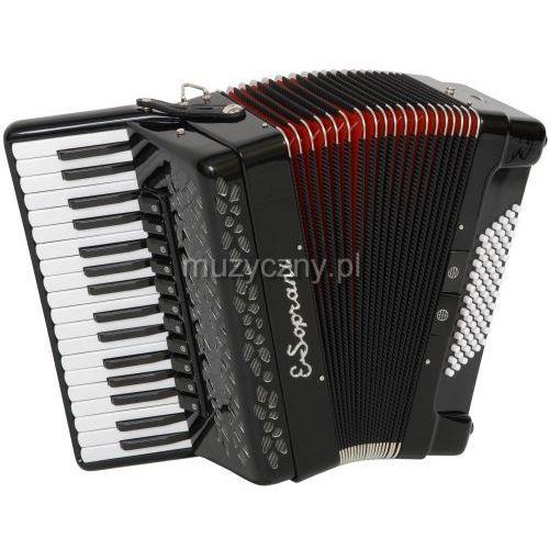 744 kk 34/4/11 72/4/4 piccolo akordeon (czarny, czerwony miech) marki E.soprani