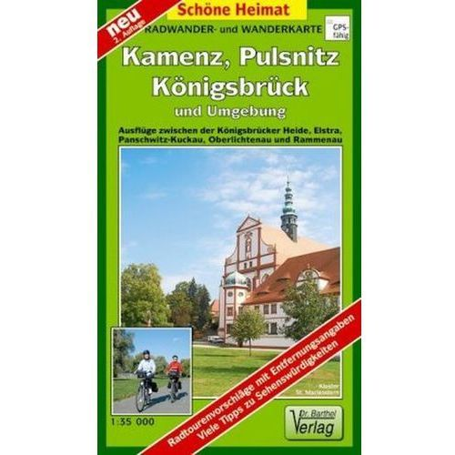 Doktor Barthel Karte Kamenz, Pulsnitz, Königsbruck und Umgebung