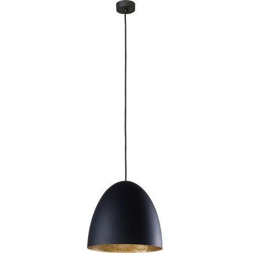 Nowodvorski egg m 9024 lampa oprawa wisząca zwis 1x40w e27 czarna / złota (5903139902298)