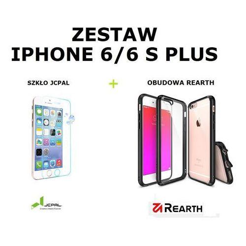 Benks Zestaw szkło ochronne jcpal glass film + obudowa rearth ringke fusion smoke black apple iphone 6 / 6s plus