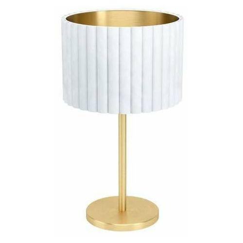 Eglo Tamaresco 39766 lampa stołowa lampka 1x40W E27 biała/złota (9002759397661)