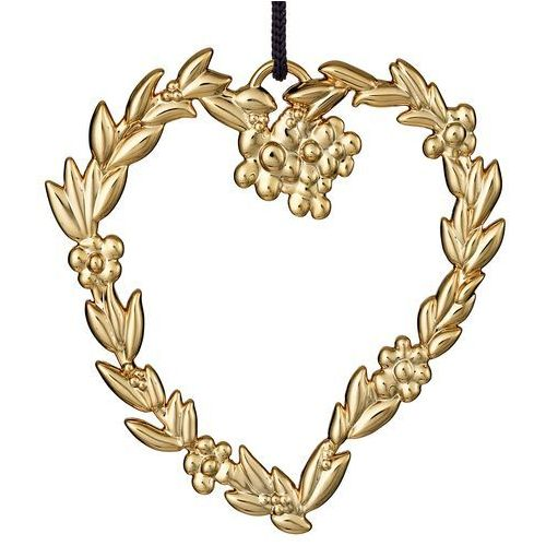 Ozdoba świąteczna Rosendahl Karen Blixen serce z listków złote