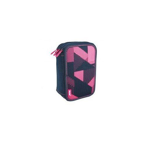 595080dba13e5 OKAZJA - Piórnik potrójny z wyposażeniem MILAN Knit różowy, 8411574073789  ...