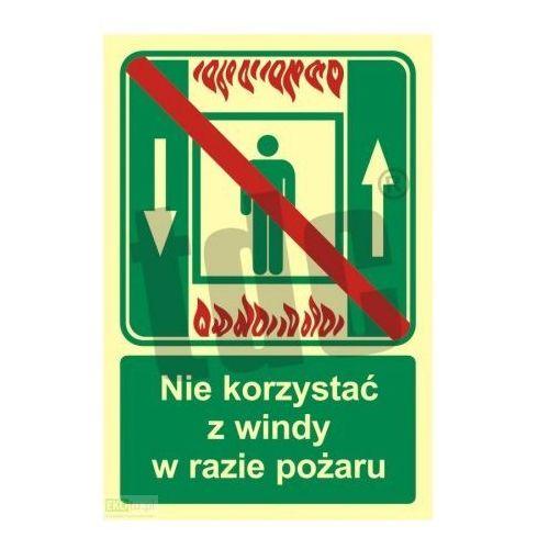 Zakaz korzystania z dźwigu osob. w razie pożaru Art. AC035, 476 - OKAZJE