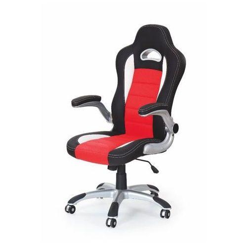 Lily fotel gamingowy dla graczy czarno-czerwony marki Style furniture