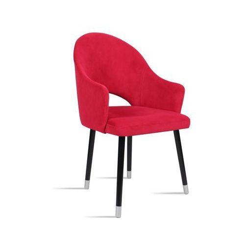 Krzesło bari czerwony / noga czarny silver/ tr9 marki B&d