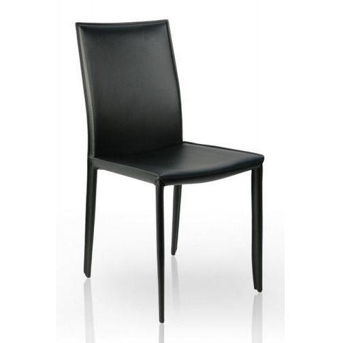 Nowoczesne krzesło verona czarne - czarne ||srebrny marki Interior