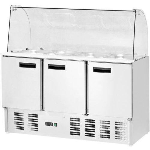 Stół chłodniczy sałatkowy 3 drzwiowy z nadstawą STALGAST 842232, 842232