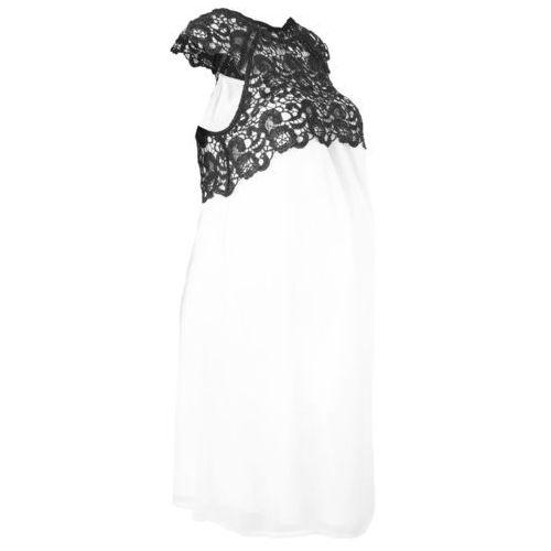 Sukienka ciążowa na uroczyste okazje bonprix biel wełny, kolor biały