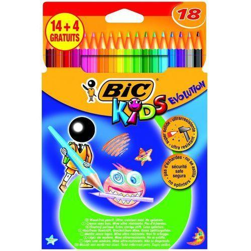 Bic Kredki ołówkowe 18 kolorów evolution + zakładka do książki gratis (3086124000154)