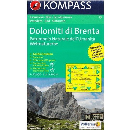 Dolomity Brenty mapa 1:50 000 Kompass, oprawa miękka