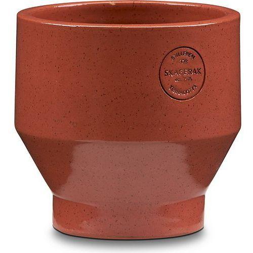 Skagerak Doniczka edge ceglasta 15 cm (5706420077749)