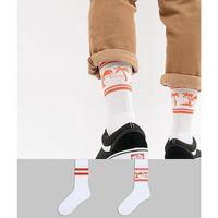 sports style socks with paradaise beach design 2 pack - white marki Asos design