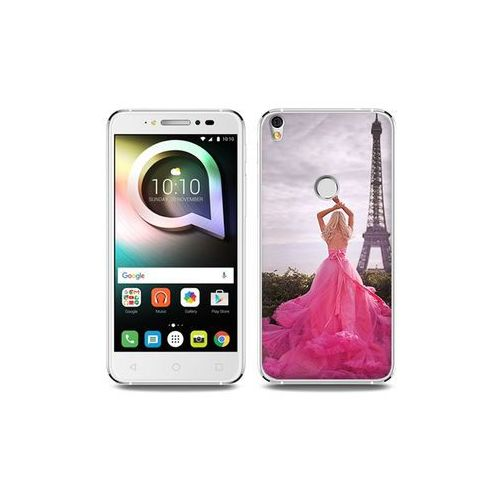 Alcatel shine lite - etui na telefon foto case - różowa sukienka marki Etuo foto case