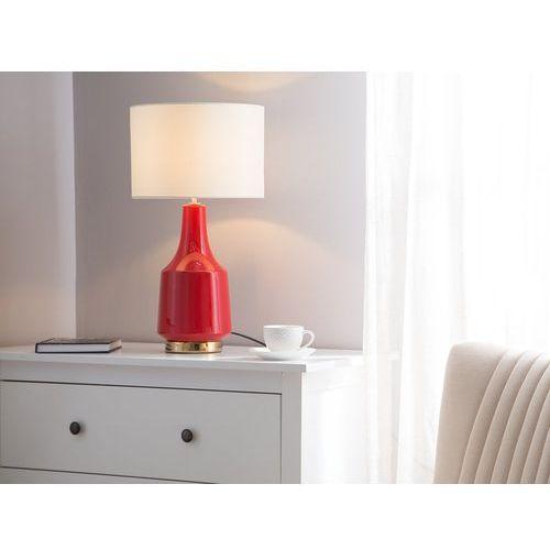 Lampka stołowa czerwona triversa marki Beliani