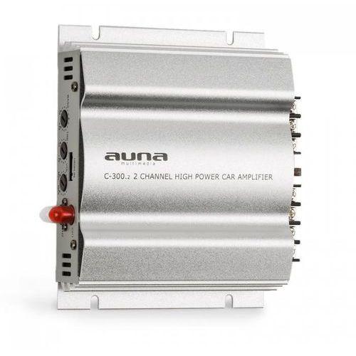 Auna C300.2 2-kanałowy wzmacniacz samochodowy 800W PMPO 200W RMS srebrny (4260509687560)