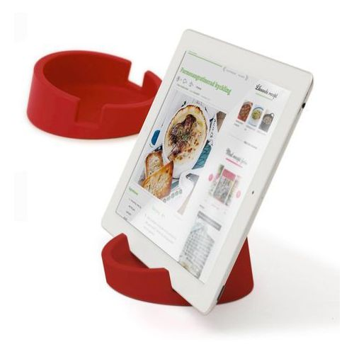 Bosign Bosign Kitchen Tablet Stand. Cookbook stand for iPad/tablet PC -Red. 11,4 cm, 4,5 cm high. Silicone - 262918 Darmowy odbiór w 19 miastach!, 262918