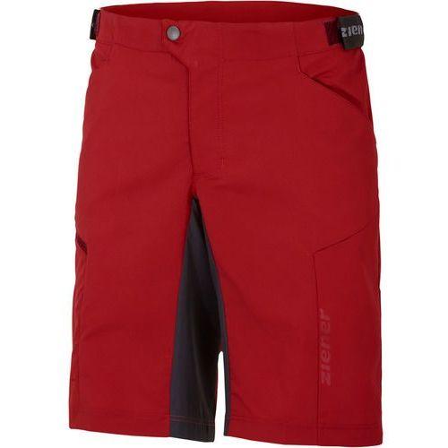 Ziener cang x-function spodnie rowerowe mężczyźni czerwony 50 2018 spodenki rowerowe