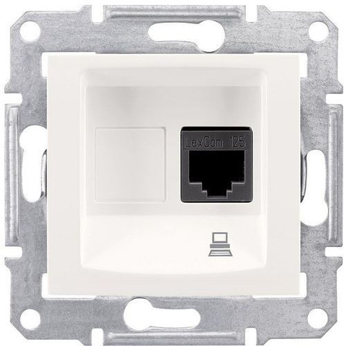 SEDNA Gniazdo komputerowe 1 pojedyncze RJ45 kat.5e kremowe SDN4300123 SCHNEIDER (8690495035629)