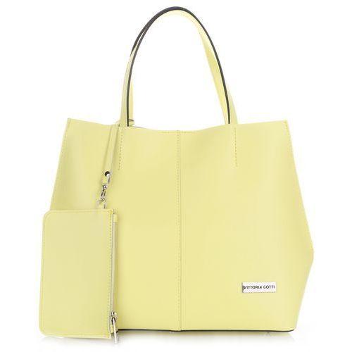 a577013f641f8 Vittoria gotti made in italy modna torebka skórzana z kosmetyczką limonka  (kolory)