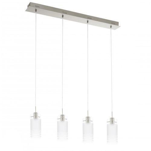 LAMPA wisząca MELEGRO 94455 Eglo szklana OPRAWA listwa LED 24W tuba biała, kolor Biały