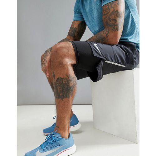 flex distance 7 inch 2-in-1 shorts in black 892905-010 - black, Nike running