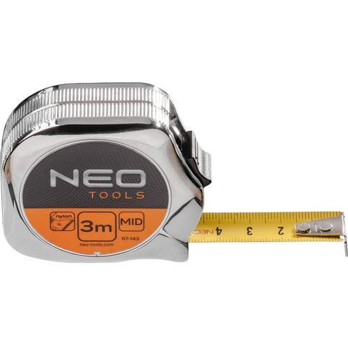 Neo Miara zwijana 67-145 stalowa z magnesem 19 mm (5 m)